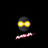Ninja logo, ikona Zdjęcia Royalty Free