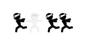 Ninja man sign camouflage. From ninja running pass Royalty Free Stock Images