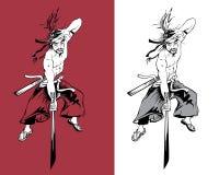 Ninja martial artist Stock Image