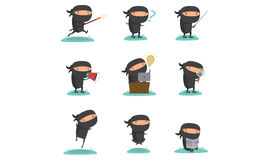 Ninja Mascot Set 1 Images libres de droits