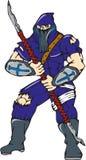 Ninja Masked Warrior Spear Cartoon Royalty Free Stock Image