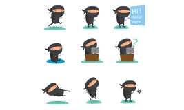 Ninja maskotka Ustawia 2 Fotografia Stock