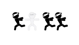 Ninja mężczyzna znaka kamuflaż Obrazy Royalty Free