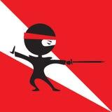 Ninja met een zwaard vector illustratie