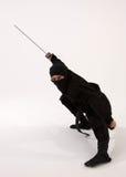 Ninja mit Klinge Stockbilder