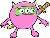 Ninja Monster Vector Royalty Free Stock Photo