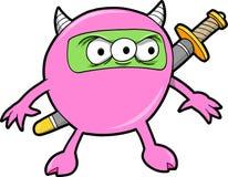 Ninja Monster-Vektor Lizenzfreies Stockfoto