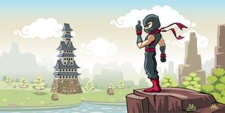 Ninja na wzgórzu Zdjęcia Stock