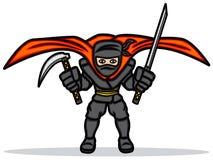 Ninja negro Imágenes de archivo libres de regalías