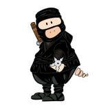 Ninja Pig. Illustration of a funny ninja Pig Royalty Free Stock Photo