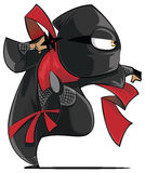 Ninja postać z kreskówki Zdjęcia Stock