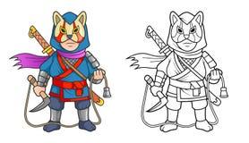 Ninja pronto a combattere Fotografia Stock Libera da Diritti