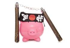 Ninja prosiątka bank zdjęcie stock
