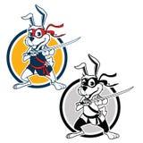 Ninja Rabbit Mascot illustration de vecteur