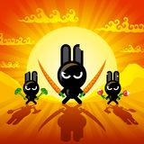 Ninja Rabbits Royalty Free Stock Image