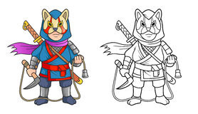 Ninja ready to fight Royalty Free Stock Photography