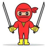 Ninja rojo Fotografía de archivo libre de regalías