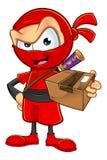 Ninja rosso sornione Character Immagine Stock Libera da Diritti