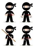 Ninja set ilustracja wektor
