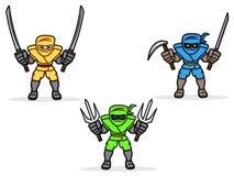 Ninja Set Lizenzfreies Stockfoto