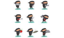 Ninja Set 7 Stock Photos
