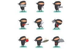 Ninja Set 7. Ninja set Collection for your businesss Stock Photos