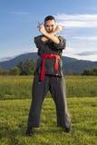 ninja shuriken kobiety Zdjęcie Stock