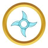 Ninja Shuriken star weapon vector icon Stock Images