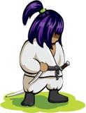 Ninja silenzioso sull'erba Fotografia Stock Libera da Diritti