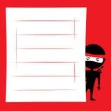 Ninja spionera Arkivbild