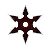 Ninja Star Shuriken - 3D übertragen Stockfoto