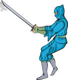 Ninja with sword Royalty Free Stock Image