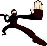 Ninja tecken stock illustrationer