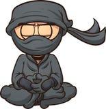 Ninja van het beeldverhaal Stock Afbeeldingen
