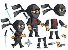 Ninja Vector ensemble animé de création de caractère illustration libre de droits
