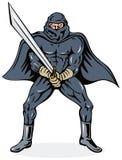 Ninja villain with sword Stock Photo