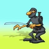 Ninja warrior. Cartoon drawing of a ninja warrior ready for fight Royalty Free Stock Images