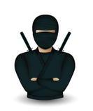 Ninja warrior avatar. On white background Stock Images