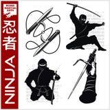Ninja Warrior Fighter - art martial mélangé Photo libre de droits