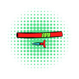 Ninja weapon icon, comics style Royalty Free Stock Photos