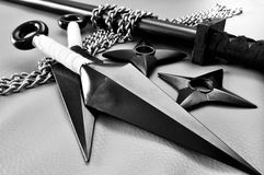 Ninja Weapons. A still life photo taken on some ninja weapons Stock Image