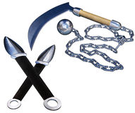 Ninja weapons Royalty Free Stock Image