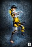 Ninja wojownik ilustracji