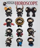ninjaen undertecknar zodiac Arkivfoto