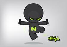 Ninjaillustratie Royalty-vrije Stock Afbeelding