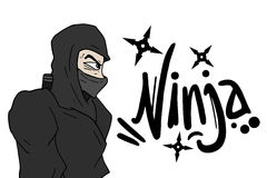 Ninjaontwerp Royalty-vrije Stock Foto