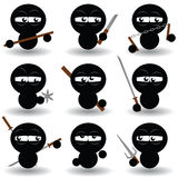 Ninjas Imagem de Stock Royalty Free
