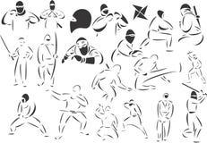 Ninjas Image libre de droits