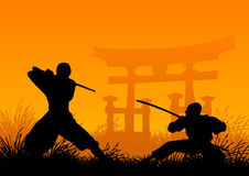 Ninjas Foto de Stock Royalty Free