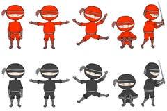 Ninjas vector illustration